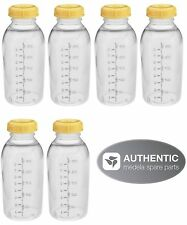 6 - 8oz Medela Bottles w/lids Breastmilk Collection Storage Feeding Bottle New!