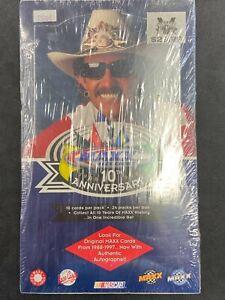 1998 UPPER DECK MAXX RACING ANNIVERSARY HOBBY BOX 24 PACKS, 10 CARD PACK