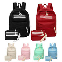 Women Girl Canvas School Shoulder Bag Handbag Bookbag Backpack Travel Rucksack