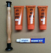 3 TUBES PEP VALVE GRINDING PASTE  F, MED, C 75Gr + LAPPING TOOL & BEARING BLUE