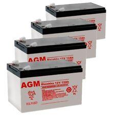 4 x Batterie Akku BLEIAKKU für Pack 24V 24Ah 24Volt kompatibel GEL BLEIGEL 48V