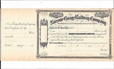 NARROW GAUGE RAILWAY COMPANY (NEW JERSEY)....1870'S UNISSUED STOCK CERTIFICATE