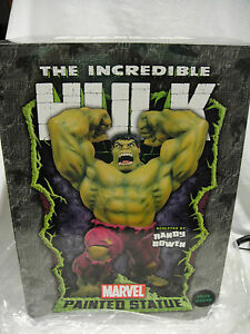 "BOWEN SKETCHED SIGNED by ""STAN LEE"" HULK STATUE COLOR  NIB!! SIDESHOW Red Figure"