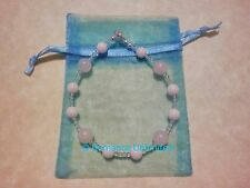 Clear White Snow Triple QUARTZ Gemstone Bead Large BRACELET Wicca Reiki Purity