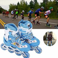 Kids Inline Skates Roller Shoes with Adjustable Size Light up Wheel Boy &Girl ky