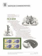 #44 10c Pioneer Spacecraft #1556  USPS Commemorative Stamp Panel