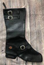 1999 Harley-Davidson Black Leather Christmas Stocking Boot Cavanagh Group Rare