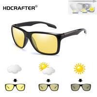 Men Photochromic Polarized Night Vision Sunglasses Outdoor Driving Sport Glasses