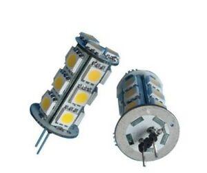 2 Ampoules HP24W Feux de jour led 18 SMD Couleur Blanc Xenon Lumière 6000K