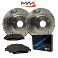 2010 2011 2012 Mazda MazdaSpeed 3 Slotted Drilled Rotor w/Metallic Pads F
