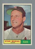 1961 Topps Stan Musial #290 ex