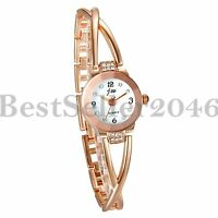 New Fashion Women Ladies Bracelet Rhinestone Dial Analog Quartz Wrist Watch Gift