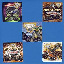 10 Monster Jam Truck Trios - Large Stickers - Grave Digger, Monster Mutt