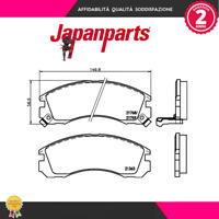 PP599AF Kit pastiglie freno a disco Mitsubishi (MARCA-JAPANPARTS)