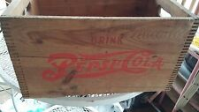 * * PEPSI:COLA OLD WOOD BOTTLE CARRIER BOX PLYMOUTH MASS. * *