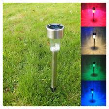 HOT LED Solar Stainless Steel Garden Light Outdoor Landscape Path Lane Lawn Lamp