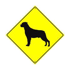 Rottweiler Dog Symbol Crossing Animal Xing Metal Aluminum Novelty Sign 12x12