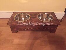 raised wooden dog bowl stand bespoke handmade stunning finish