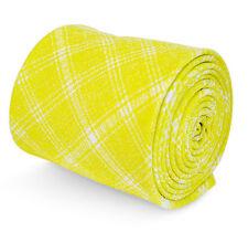 Frederick Thomas jaune et blanc motif carreaux Cravate en 100% coton ft3197
