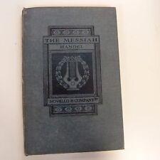 VOCAL SCORE Handel il Messia, Cover rigida, ed. Ebenezer PROUT