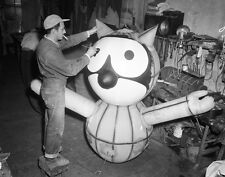 1927 Marionette Painting Felix The Cat Balloon Macy's Parade 8  x 10  Photograph