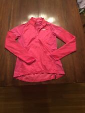 NIKE GOLF WOMENS 1/4 ZIP PULLOVER SIZE ST PINK LIGHT WEIGHT