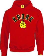 Kronk  Men's long sleeve Gloves boxing Hoodie sports sweatshirt Red