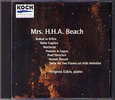 Amy BEACH Works for 1 & 2 Piano Ballad Prelude Virginia ESKIN Kathleen SUPOVE CD