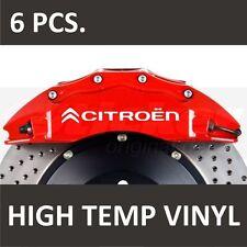 Citroen Premium Brake Caliper Stickers decals Berlingo C1 C2 C3 C4 C5 C6 C8