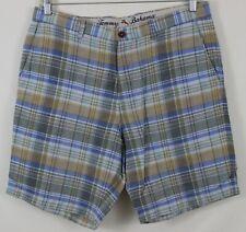 Tommy Bahama Men's Shorts Linen Blend Multi Color Sz 36 Striped Checks