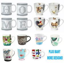 Assorted Clearance Set of 8 Mugs Porcelain Bone China Designs
