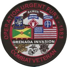 "5.5"" Diameter Operation Urgent Fury - Grenada patch - Ranger, 82nd Airborne, etc"