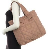 Marc Jacobs Bag Diamond Quilted Nylon Large Knot Tote French Grey NEW