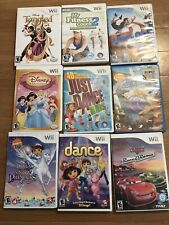 Lot of 9 Nintendo Wii Video Games Tangled Disney Princess Cars (scratches)
