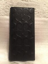 COACH - MENS BREAST POCKET WALLET/ORGANIZER IN BLACK SIGNATURE LEATHER NWT