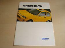 FIAT CINQUECENTO UK SALES BROCHURE - DATED JANUARY 1995