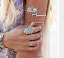 Upper Arm Vintage Silver Arrow Bangle Armlet Cuff Bohemian Ethnic UK Seller