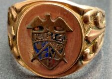 Rare KGE Knights of the Golden Eagle masonic fraternal men's antique ring