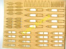 1/350 WOODEN DECK   IJN WWII WARSHIP SMALL BOAT Hasegawa Japanese Set A Kit