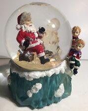 """San Francisco Music Box Company Christmas Globe """" Tis The Season To Be Jolly """" I"""