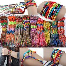 20Pcs Braid Strands Friendship Cords Bracelets Handmade Beach Jewelry Gift DIY