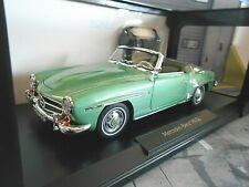 Mercedes Benz 190sl 190 SL Roadster Convertible verde met. w121 B II 1957 norev 1:18