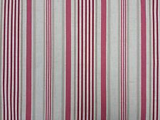 Clarke and Clarke Belle Raspberry Stripe Design Curtain Upholstery Craft Fabric