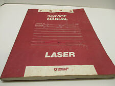 1990 Plymouth Laser Electrical Service Manual