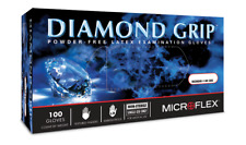 Mircoflex Mf300M Diamond Grip Powder-Free Latex Gloves Medium (100/Box)