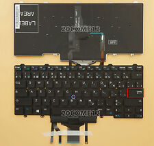 FOR Dell Latitude E5470 E7470 Keyboard Canadian French Backlit with pointer