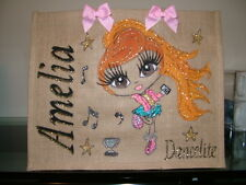 JUTE BAGS any name any design painted to your description  not clairabella