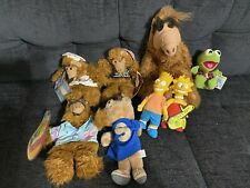 Assorted Vintage Alf Hand Puppets, Simpsons, Alvin And Chipmunks, Kermit Plush