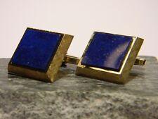 ausdrucksstarke Vintage - Manschettenknöpfe - Gold 585 mit edlem blauen Lapis
