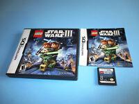 Lego Star Wars III The Clone Wars (Nintendo DS) Lite DSi XL 3DS w/Case & Manual